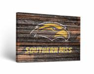 Southern Mississippi Golden Eagles Weathered Canvas Wall Art