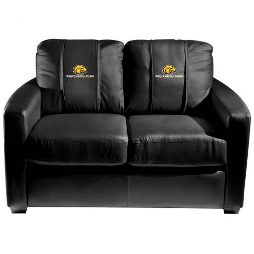 Southern Mississippi Golden Eagles XZipit Silver Loveseat
