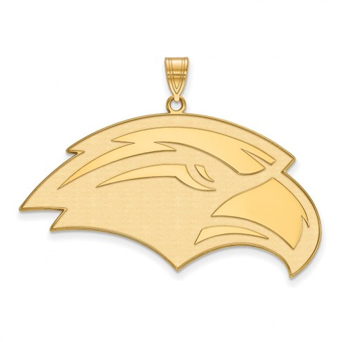 Southern Mississippi Golden Eagles Sterling Silver Gold Plated Extra Large Pendant