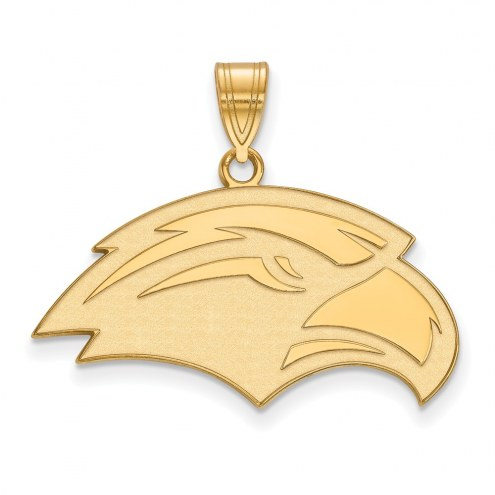 Southern Mississippi Golden Eagles Sterling Silver Gold Plated Medium Pendant