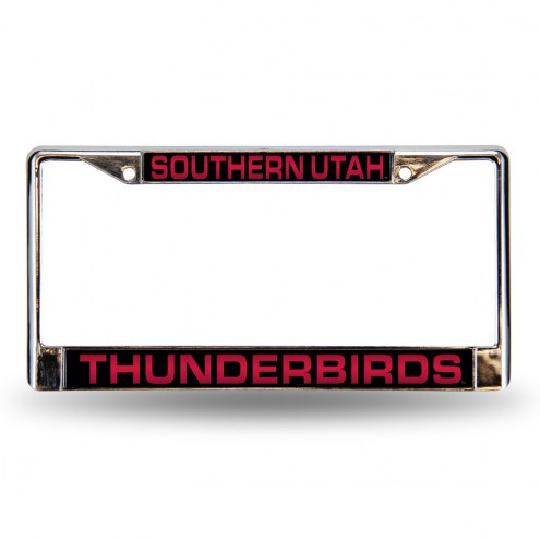 Southern Utah Thunderbirds Laser Chrome License Plate Frame