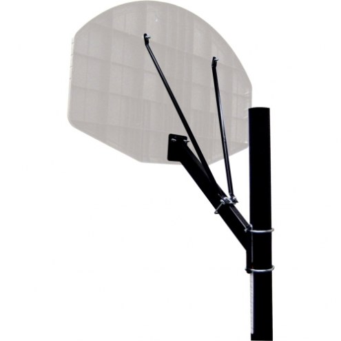"""Spalding 3.5"""" Round Basketball Pole with Extension Arm"""