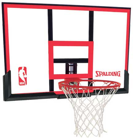 Spalding Residential 48 Inch Poly Carbonate Basketball Backboard and Rim Combo