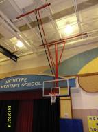 Spalding All-Purpose Ceiling Mast Basketball Backstop