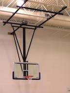 Spalding Gliding Rear-Braced Ceiling Mast Basketball Backstop