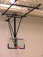 Spalding Gliding Rear-Braced Ceiling Mast Basketball Backstop