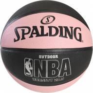 Spalding NBA Varsity Outdoor Basketball - Black / Pink (28.5)