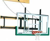 Spalding Wall Braced Side Fold Basketball Hoop Backstop