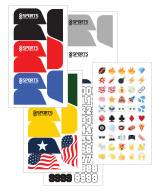 Sports Unlimited Football Visor Decal Set