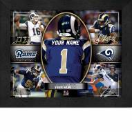 Los Angeles Rams Personalized 11 x 14 Framed Action Collage
