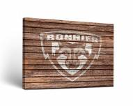 St. Bonaventure Bonnies Weathered Canvas Wall Art