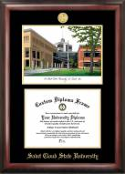 St. Cloud State Huskies Gold Embossed Diploma Frame with Lithograph