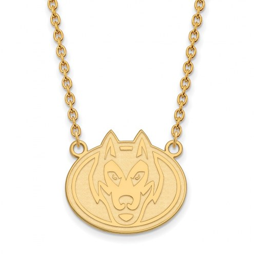 St. Cloud State Huskies Sterling Silver Gold Plated Large Pendant Necklace