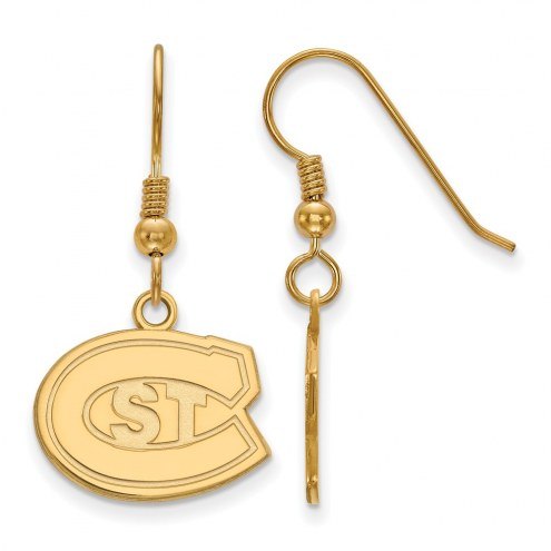 St. Cloud State Huskies Sterling Silver Gold Plated Small Dangle Earrings