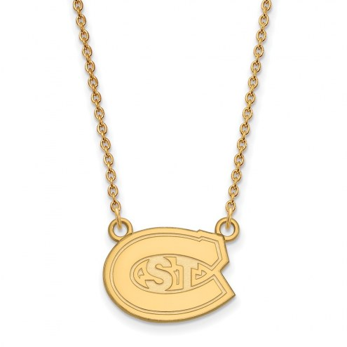 St. Cloud State Huskies Sterling Silver Gold Plated Small Pendant Necklace
