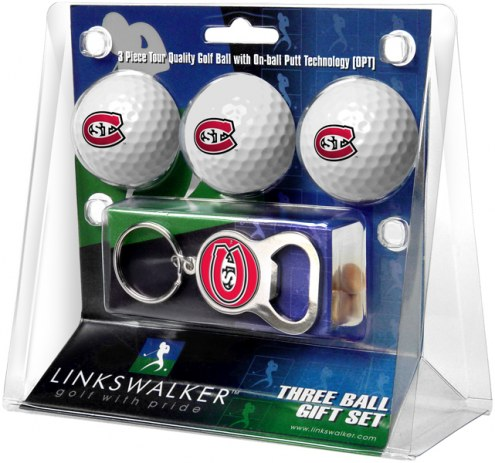 St. Cloud State Huskies Golf Ball Gift Pack with Key Chain