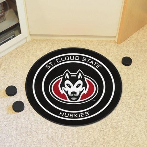 St. Cloud State Huskies Hockey Puck Mat