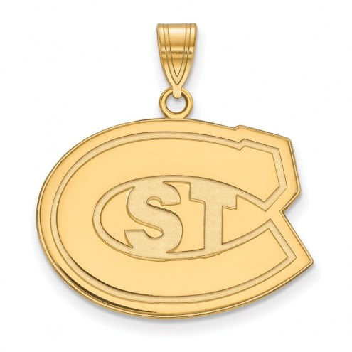 St. Cloud State Huskies NCAA Sterling Silver Gold Plated Large Pendant