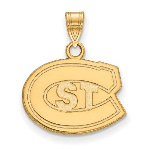St. Cloud State Huskies NCAA Sterling Silver Gold Plated Small Pendant