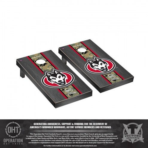 St. Cloud State Huskies Operation Hat Trick Onyx Stained Cornhole Game Set