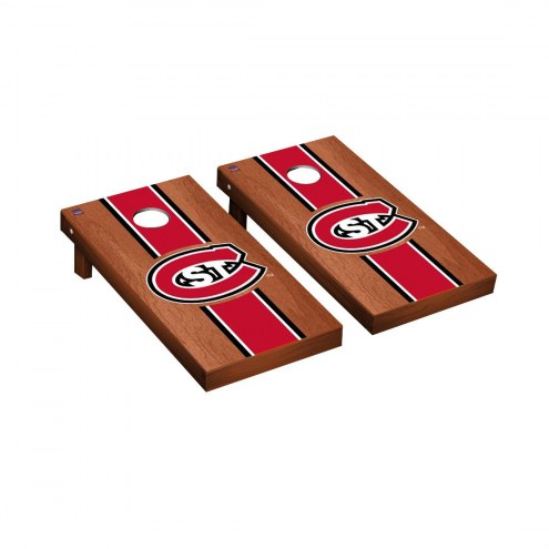 St. Cloud State Huskies Rosewood Stained Cornhole Game Set