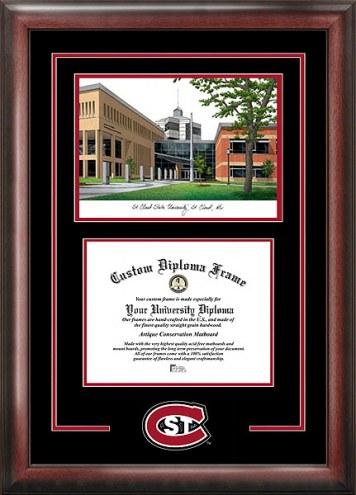 St. Cloud State Huskies Spirit Diploma Frame with Campus Image