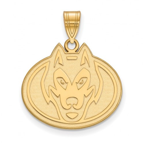 St. Cloud State Huskies Sterling Silver Gold Plated Large Pendant