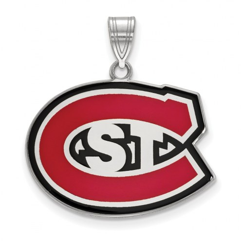St. Cloud State Huskies Sterling Silver Large Enameled Pendant