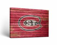 St. Cloud State Huskies Weathered Canvas Wall Art