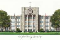 St. John's Red Storm Campus Images Lithograph