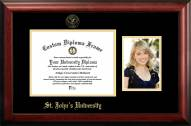 St. John's Red Storm Gold Embossed Diploma Frame with Portrait