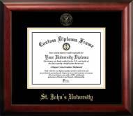 St. John's Red Storm Gold Embossed Diploma Frame