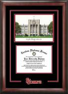 St. John's Red Storm Spirit Diploma Frame with Campus Image