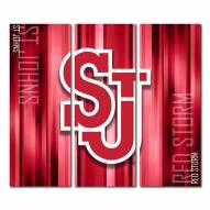 St. John's Red Storm Triptych Rush Canvas Wall Art