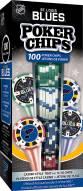 St. Louis Blues 100 Piece Poker Chips