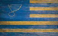 """St. Louis Blues 11"""" x 19"""" Distressed Flag Sign"""