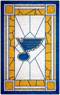 """St. Louis Blues  11"""" x 19"""" Stained Glass Sign"""