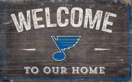 """St. Louis Blues 11"""" x 19"""" Welcome to Our Home Sign"""