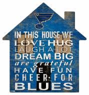 """St. Louis Blues 12"""" House Sign"""