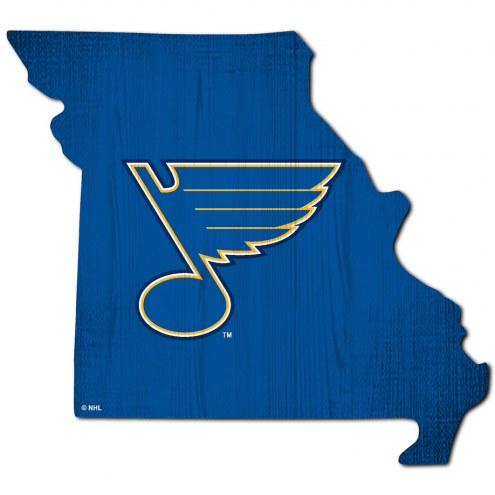 "St. Louis Blues 12"" Team Color Logo State Sign"