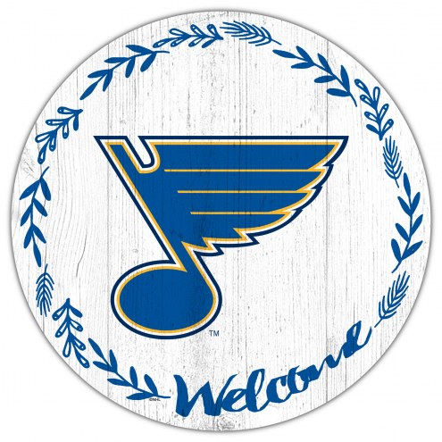 """St. Louis Blues  12"""" Welcome Circle Sign"""