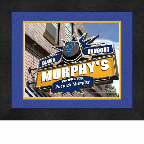 St. Louis Blues 13 x 16 Personalized Framed Sports Pub Print