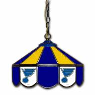 "St. Louis Blues 14"" Glass Pub Lamp"