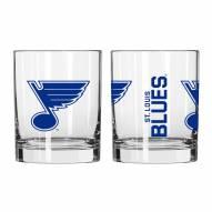 St. Louis Blues 14 oz. Gameday Rocks Glass