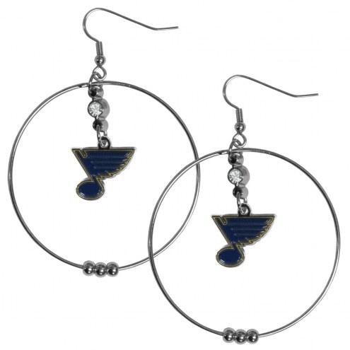 "St. Louis Blues 2"" Hoop Earrings"