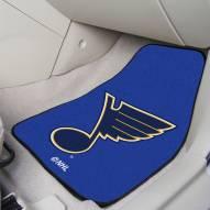 St. Louis Blues 2-Piece Carpet Car Mats