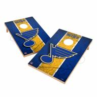 St. Louis Blues 2' x 3' Vintage Wood Cornhole Game