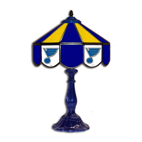 "St. Louis Blues 21"" Glass Table Lamp"