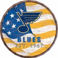 "St. Louis Blues  24"" Flag Barrel Top"