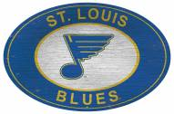 """St. Louis Blues 46"""" Heritage Logo Oval Sign"""